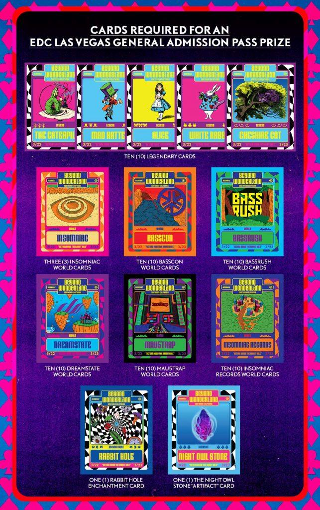 EDC Las Vegas 2019 GA Pass prize cards