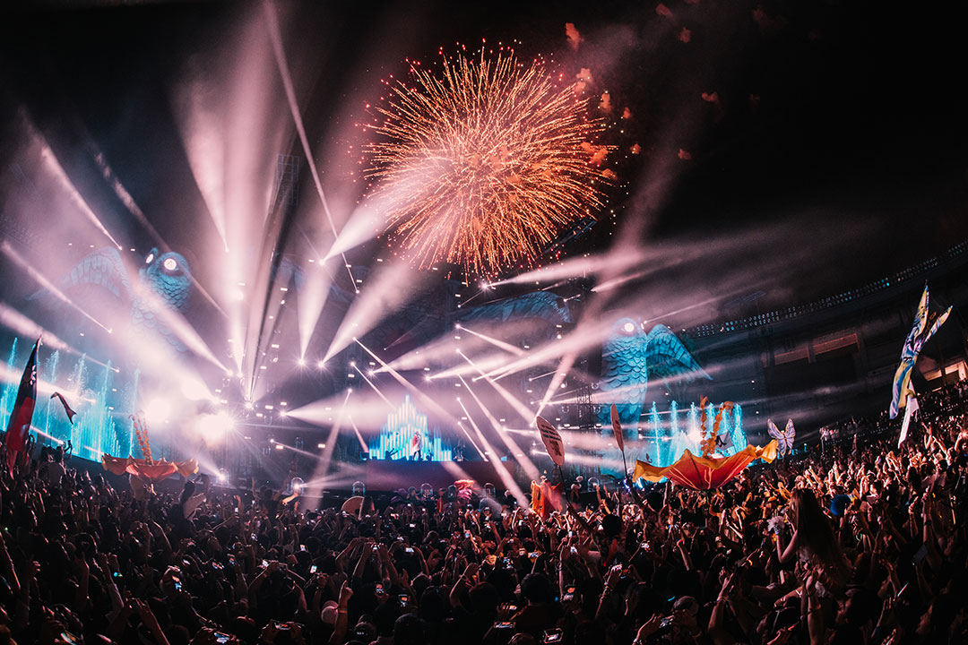 It wouldn't be a night at EDC without a fireworks display over kineticFIELD.