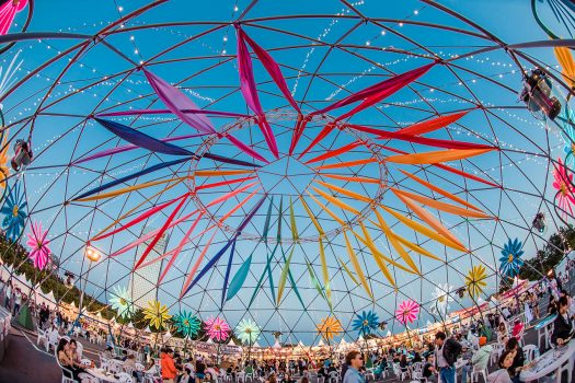 A colorful art installation at EDC Japan 2017