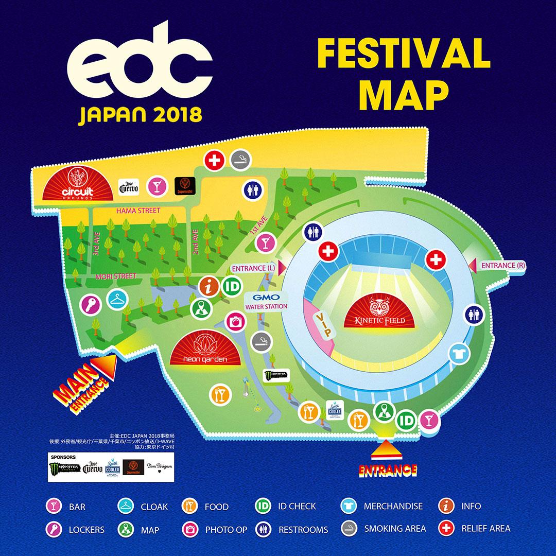 EDC Japan 2018 map