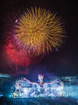 Fireworks over kineticGAIA