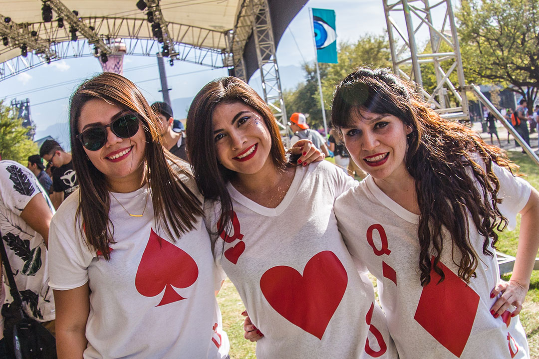 Women in playing card shirts