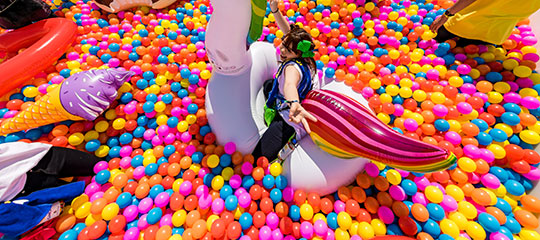 A Headliner in the ball pit