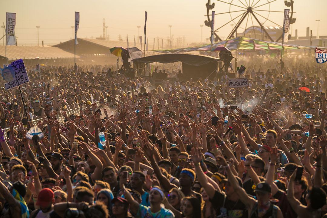 a massive crowd