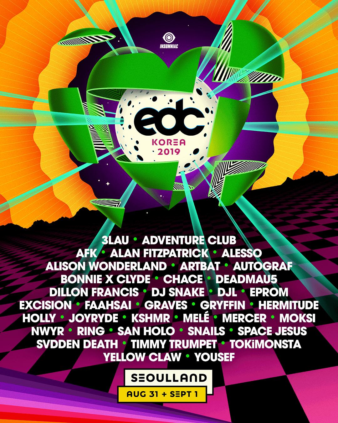 EDC Korea 2019 lineup