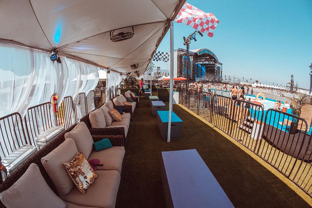 Empty SkyDeck cabana