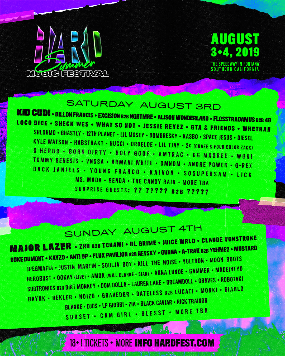 2019 HARD Summer lineup asset