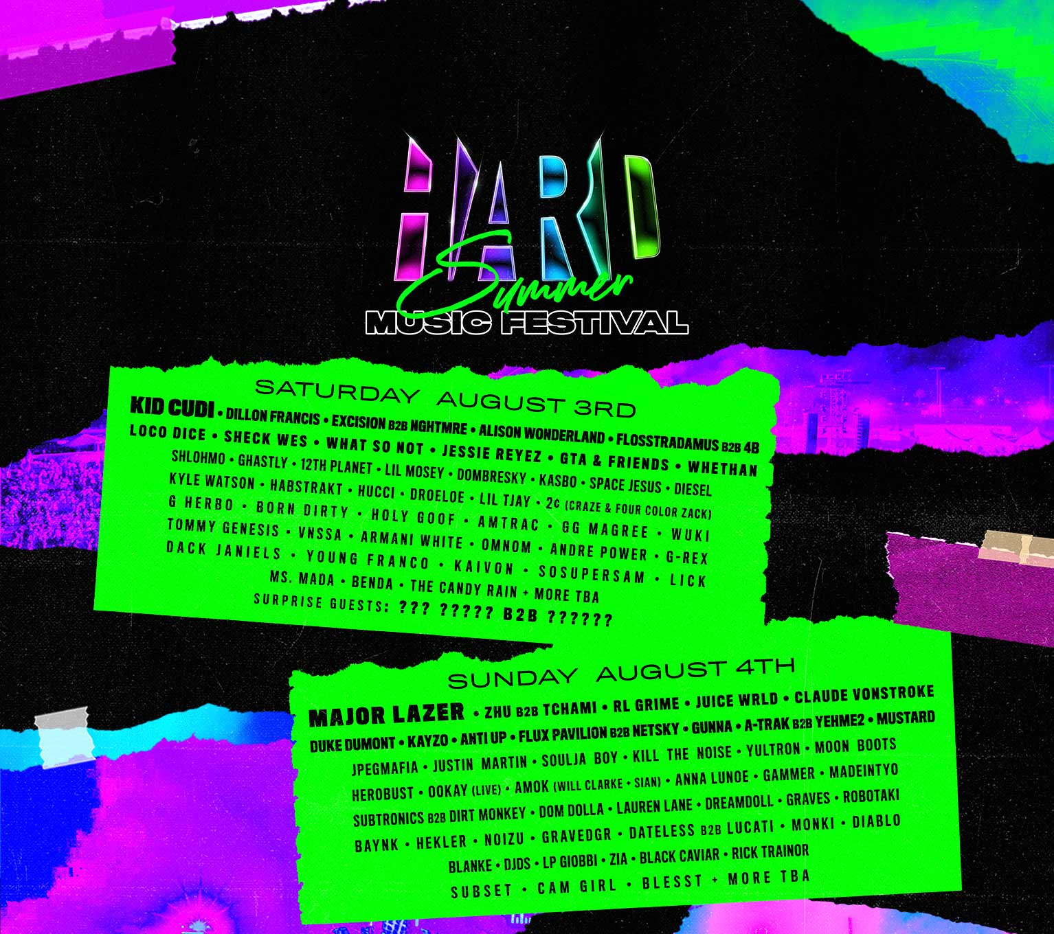 18bad4d0ac HARD Summer | August 3 & 4, 2019 | Southern California
