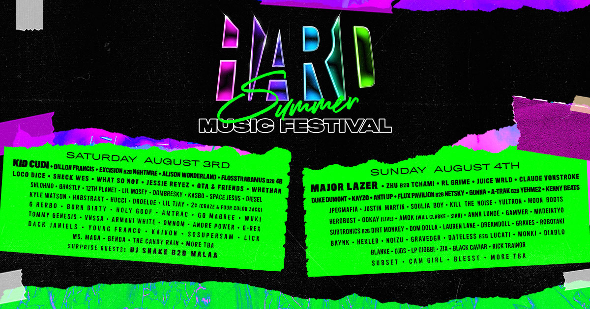 HARD Summer | August 3 & 4, 2019 | Southern California