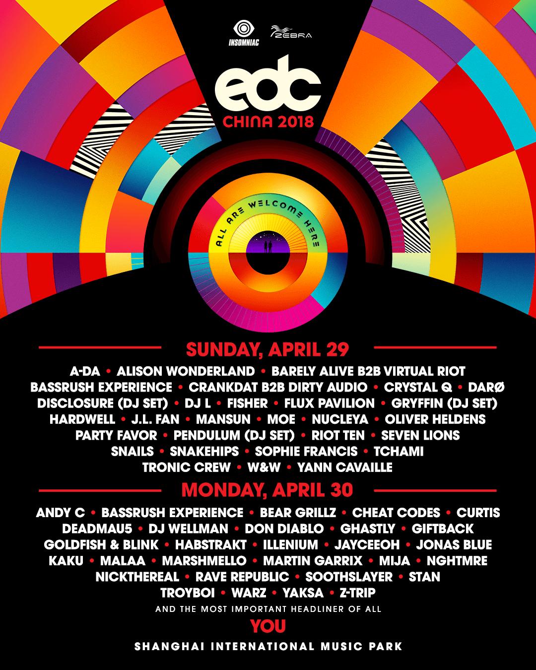 EDC China 2018 lineup