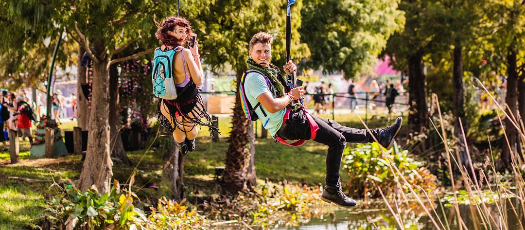 Headliners ziplining