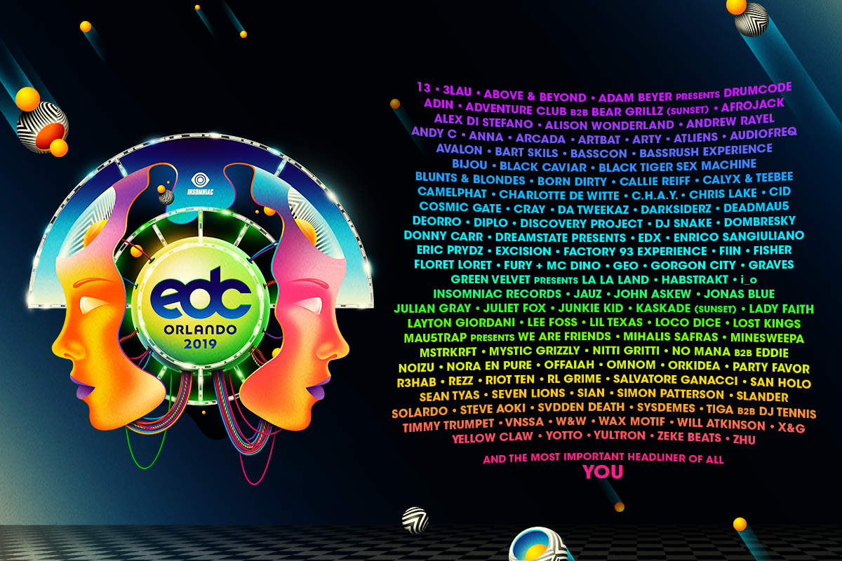 The EDC Orlando 2019 Lineup Has Been Released!