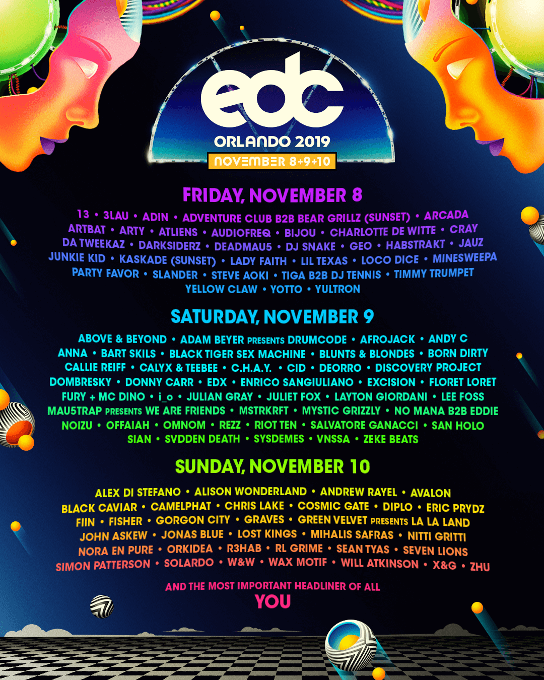 EDC Orlando lineup by day