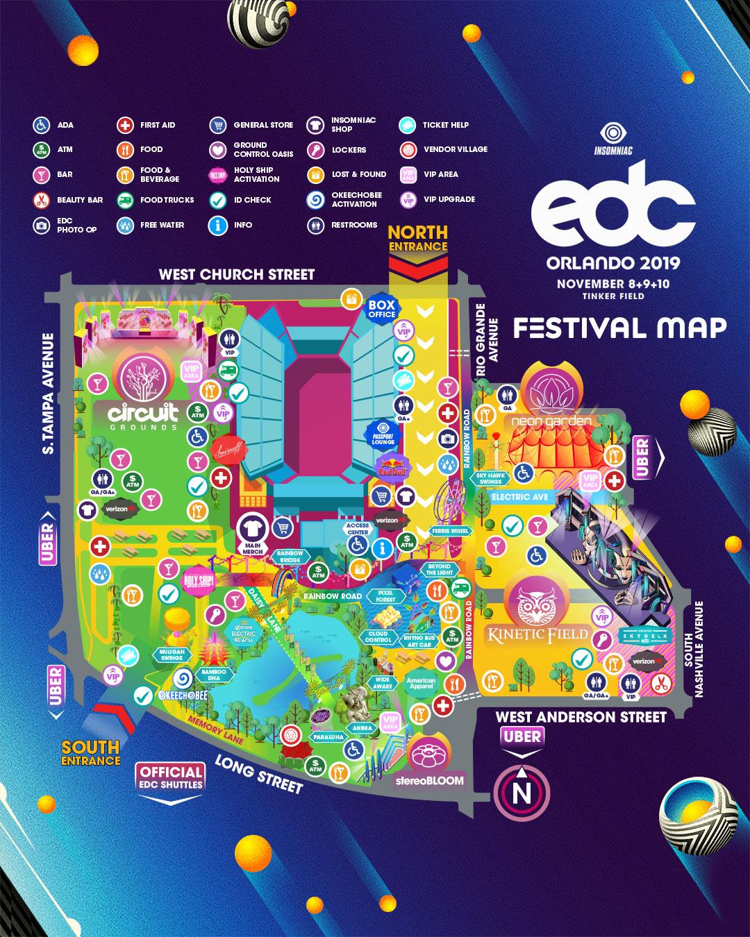 Edc Orlando 2019 map