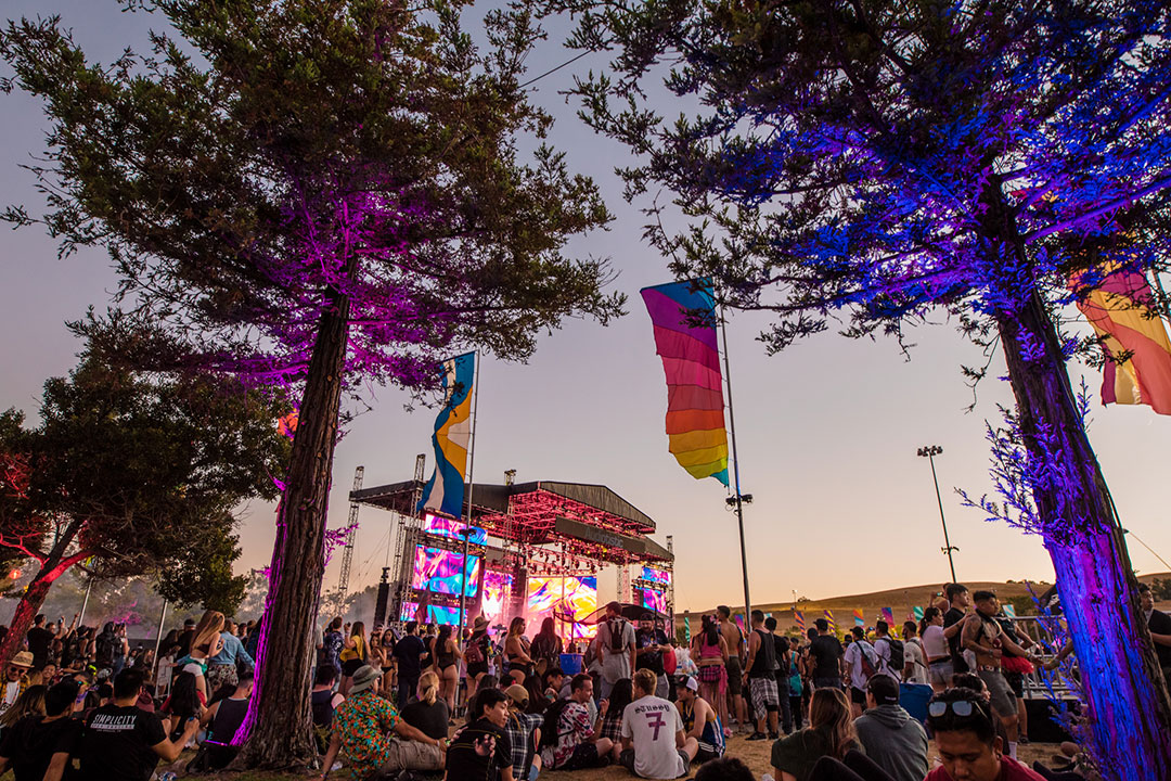 The stage at sunset