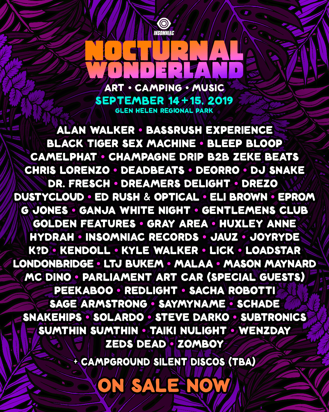 Nocturnal 2019 lineup