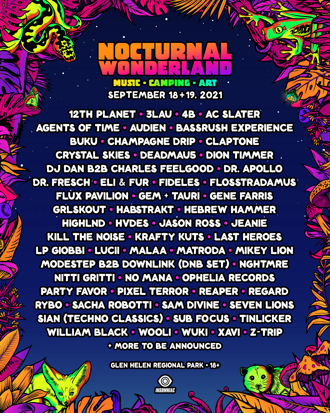 Nocturnal lineup