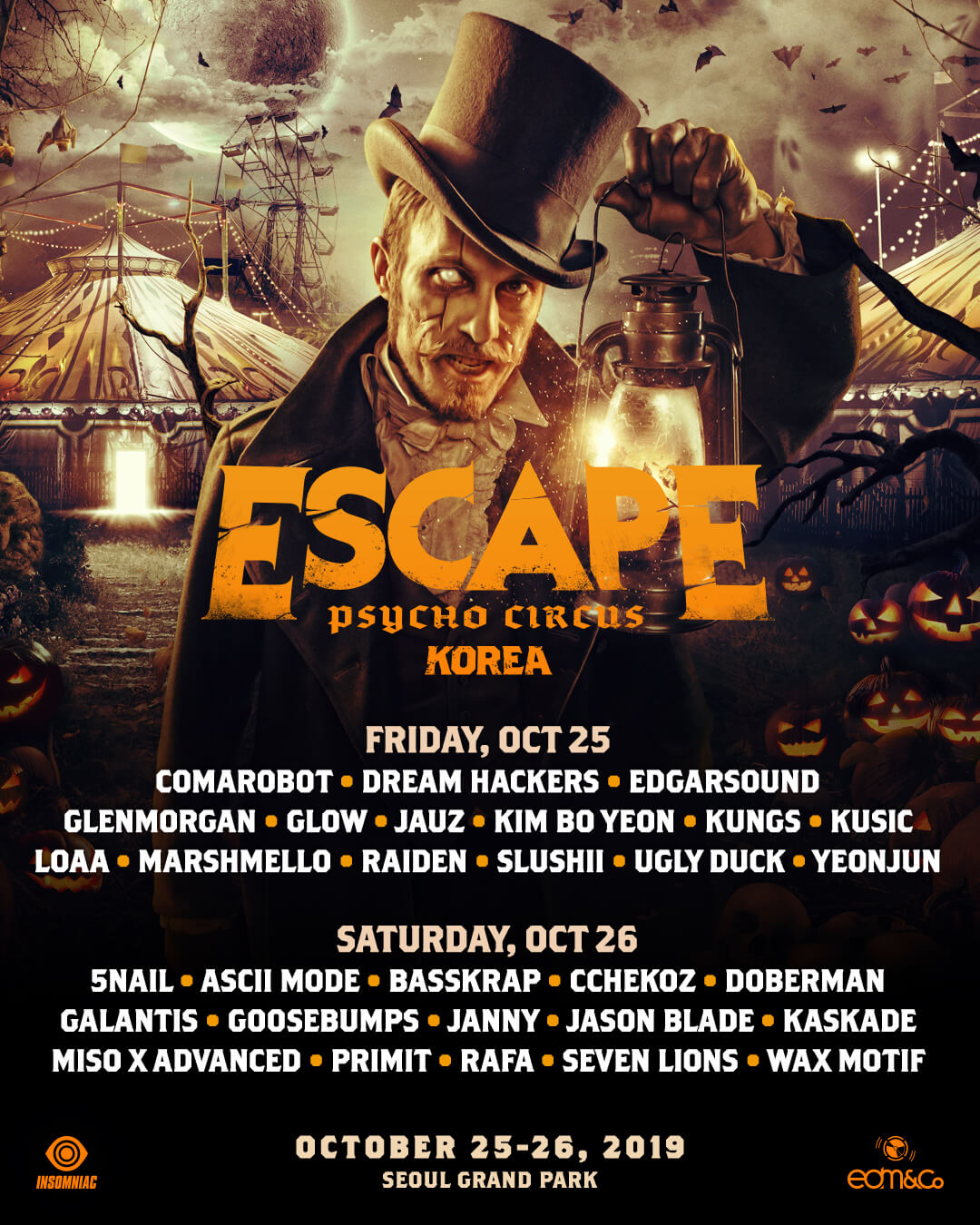 Escape Korea lineup poster