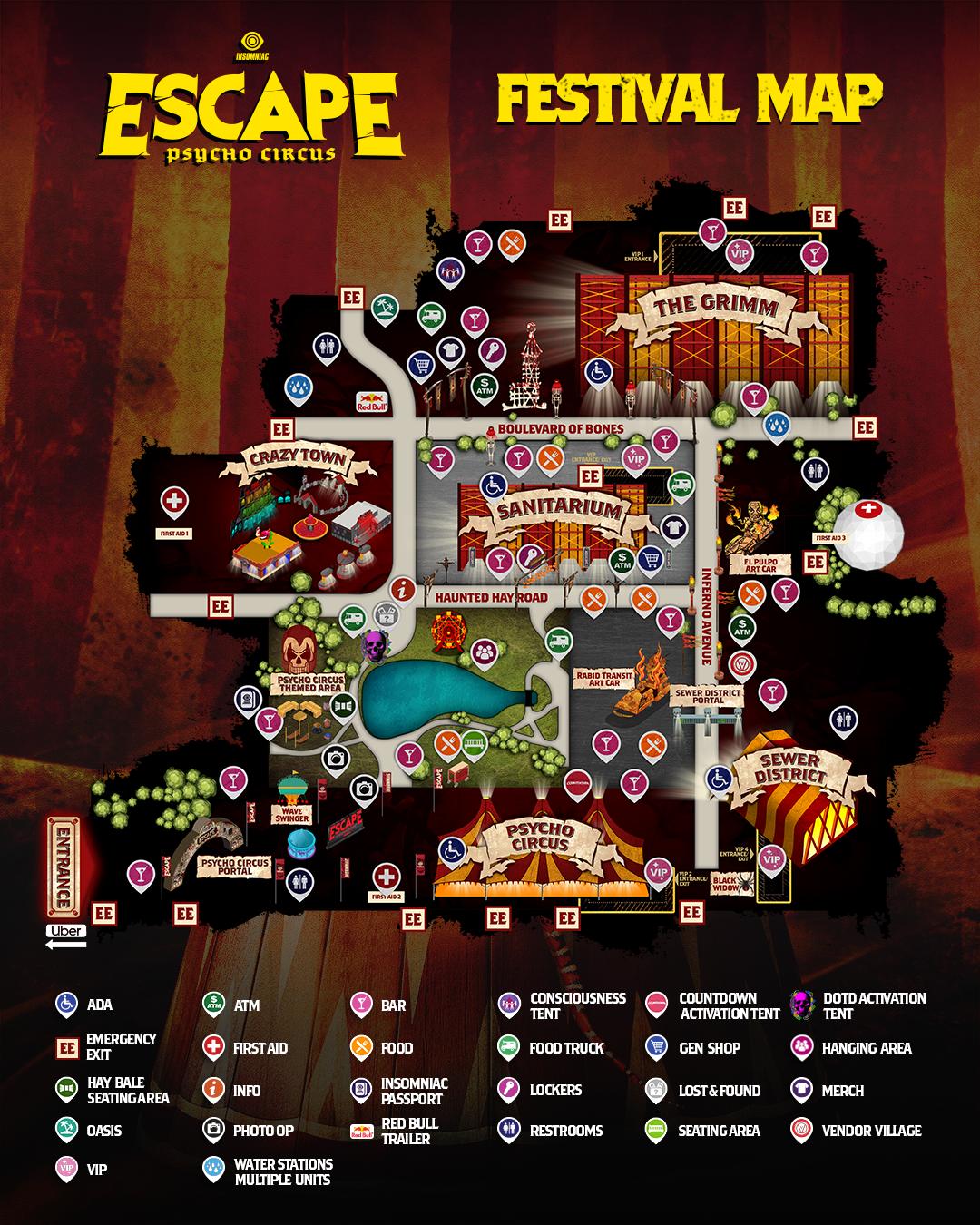 Escape Festival map