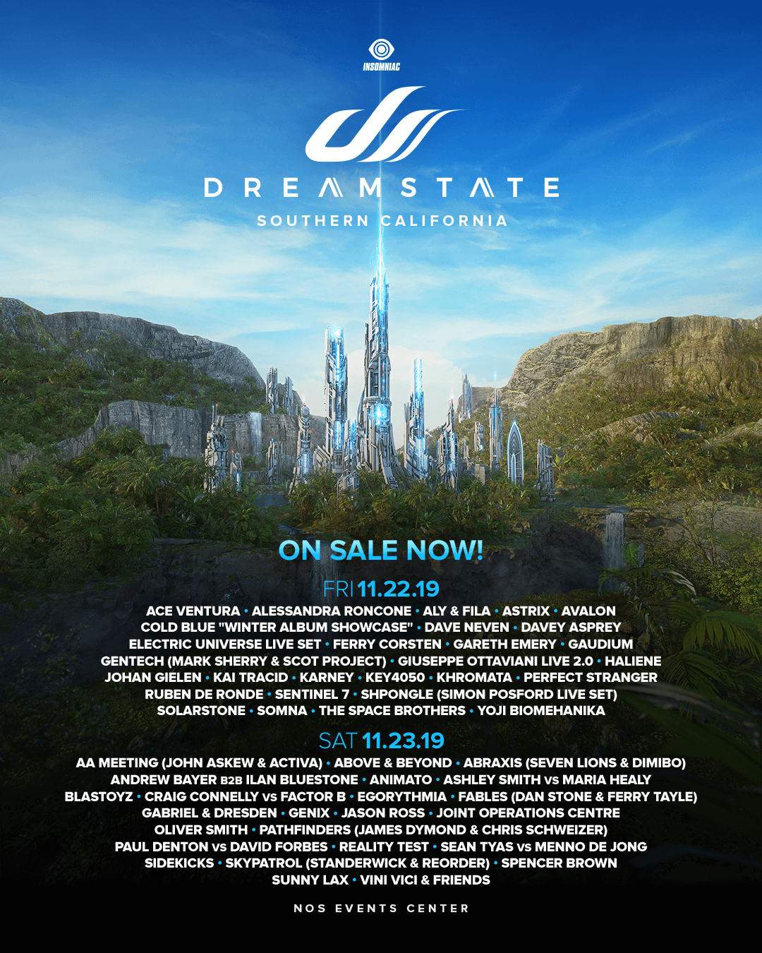 Dreamstate SoCal lineup broken out by day