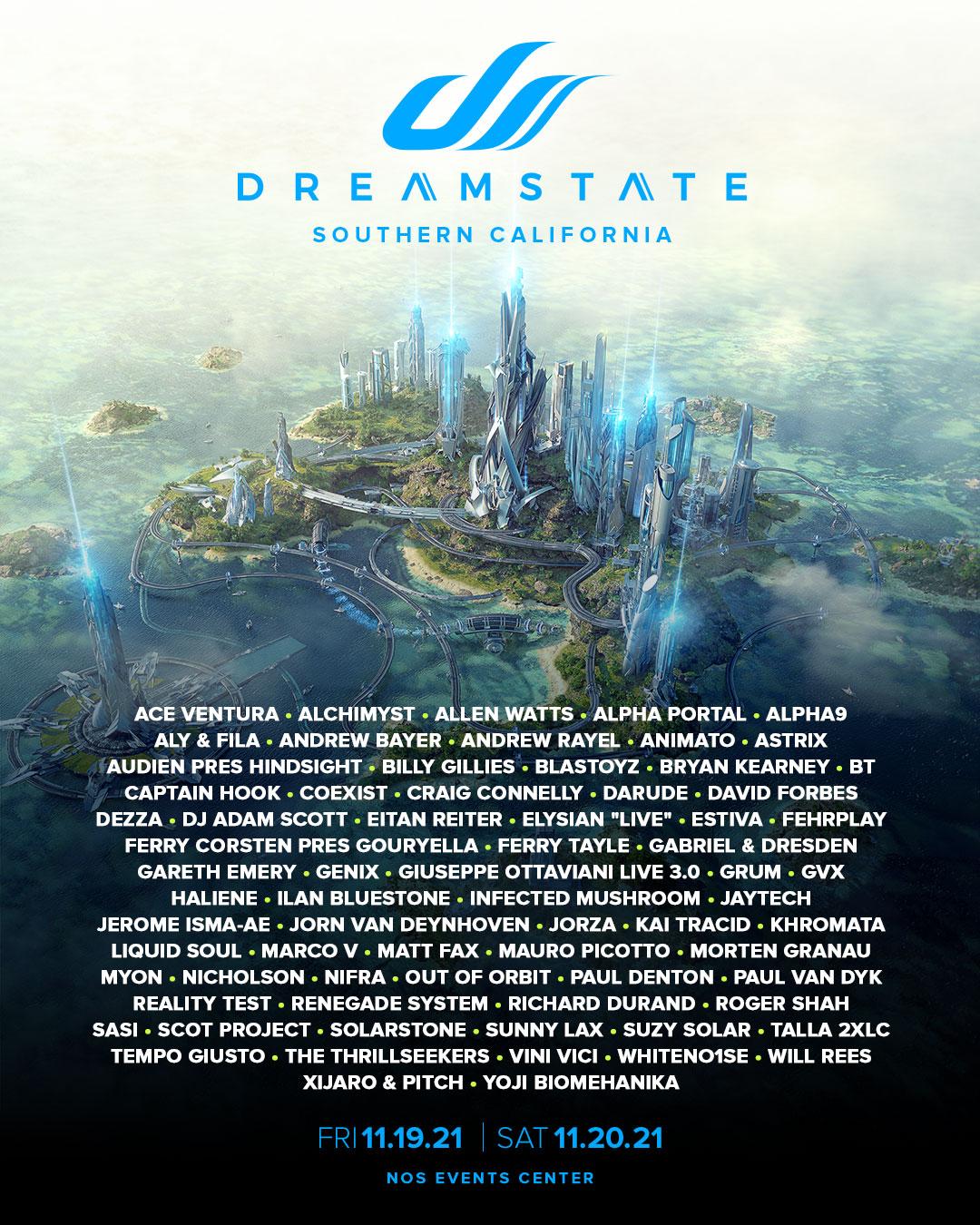 Dreamstate SoCal lineup