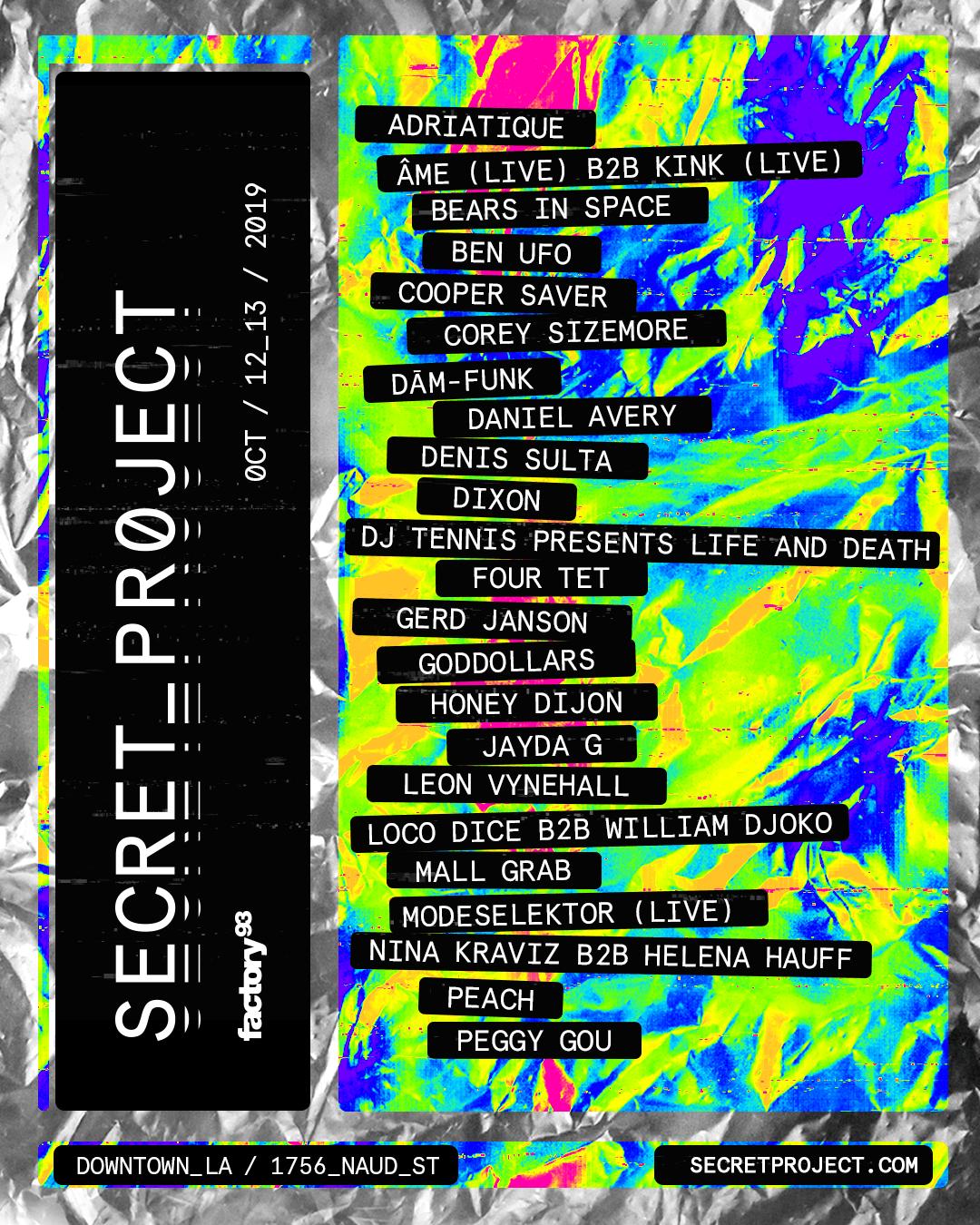 Secret Project lineup