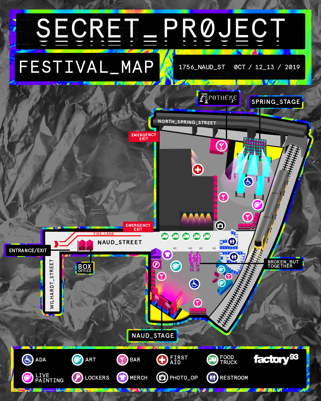 Secret Project festival map