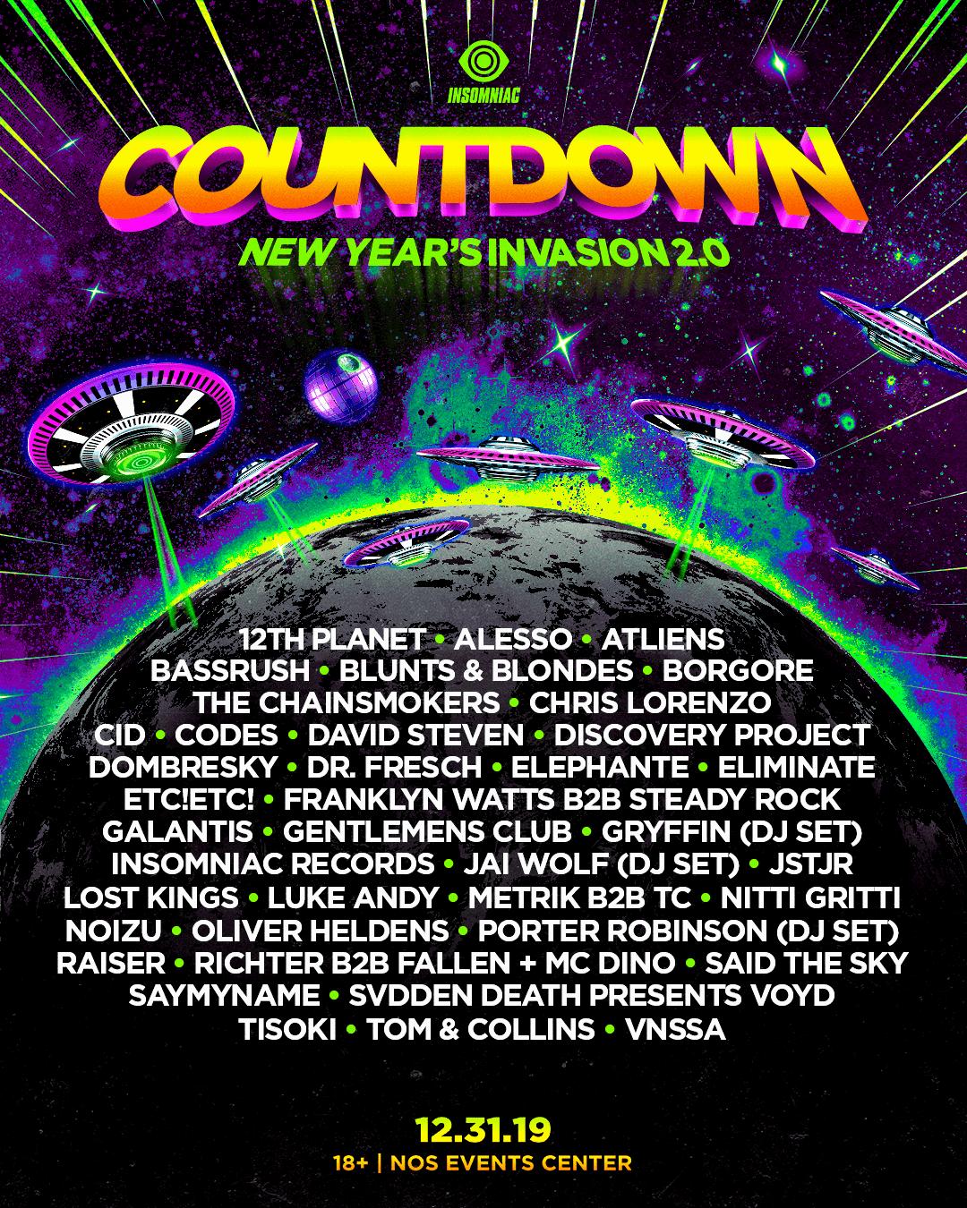 Countdown lineup