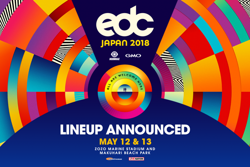 Lineup Drops for EDC Japan 2018
