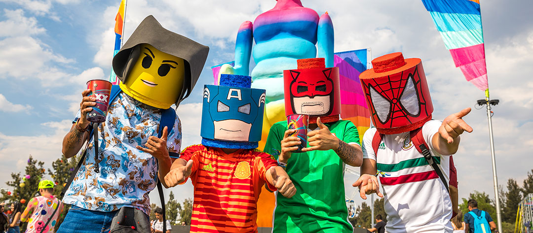 Headliners in Lego Masks
