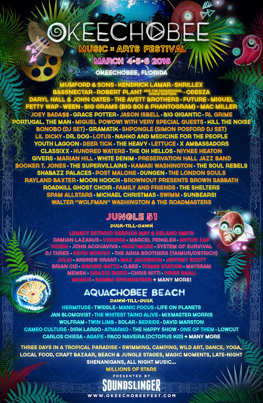 2016 lineup