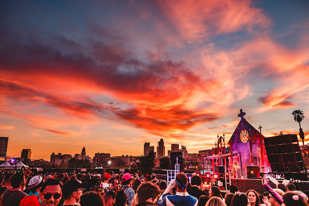 Venue in the sunset