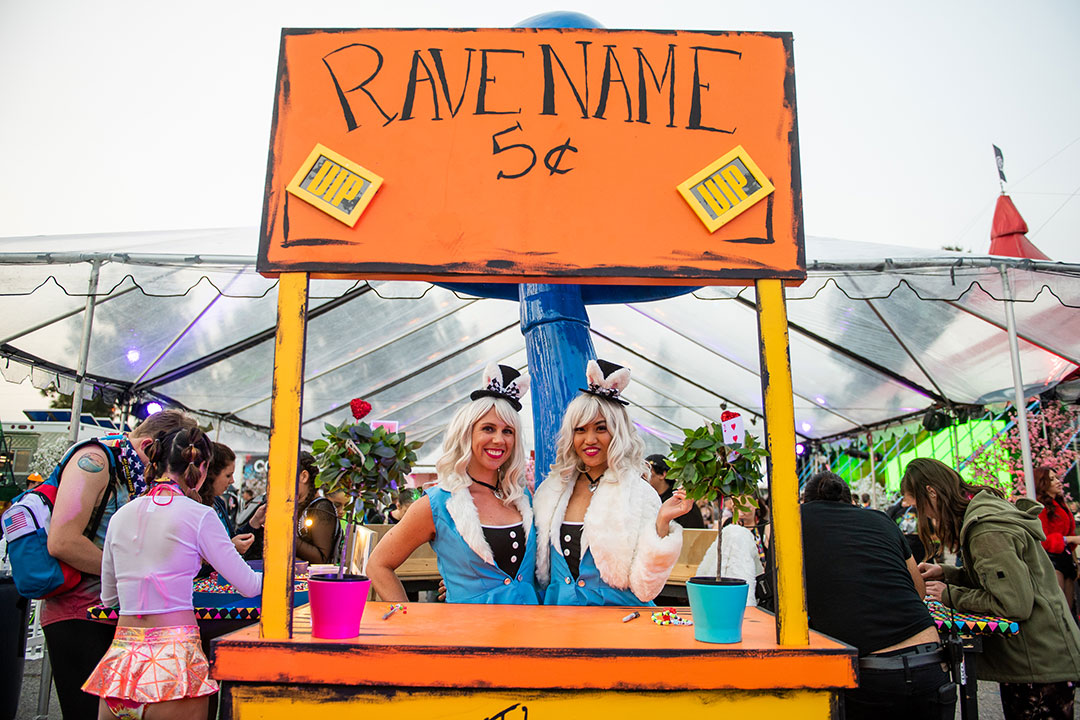 Rave Name booth