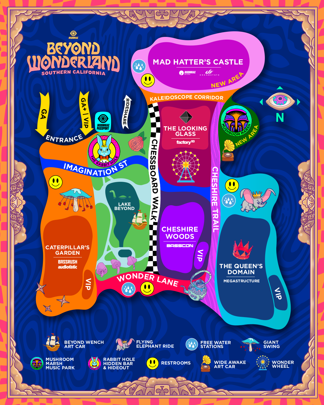 beyond wonderland festival map