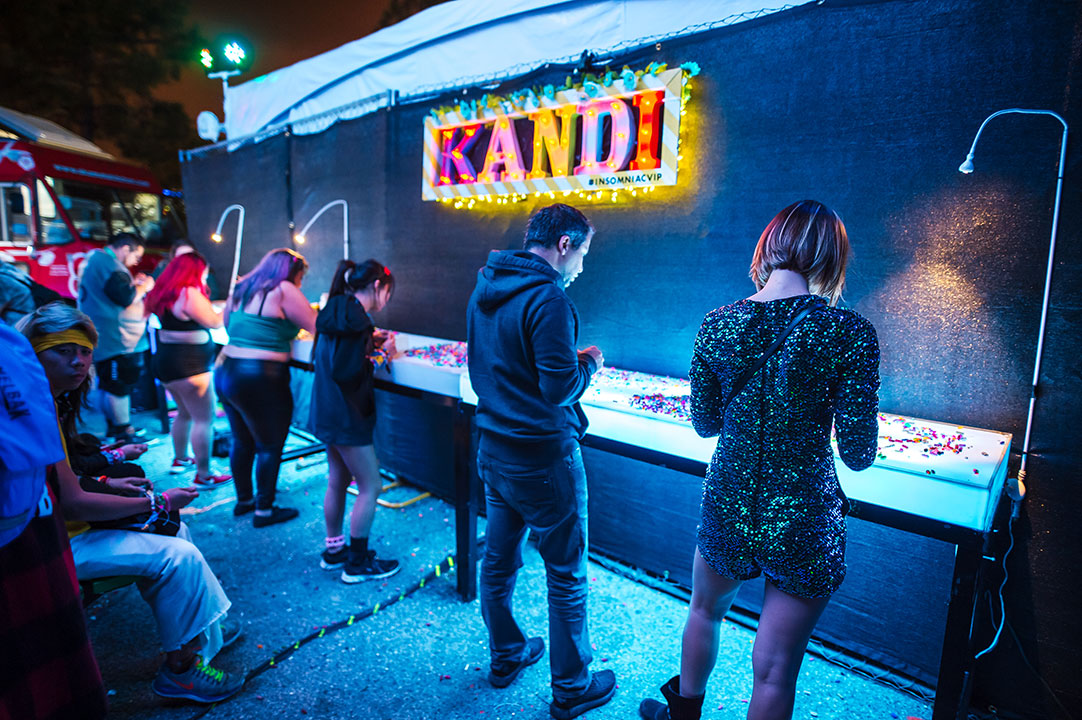 Get creative at our VIP kandi-making stations.