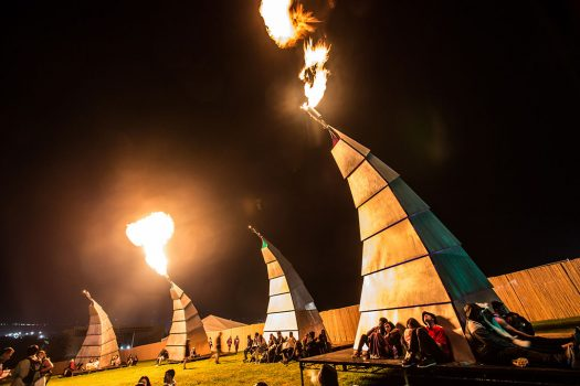 Fire-emitting art installations at Beyond Wonderland SoCal 2016