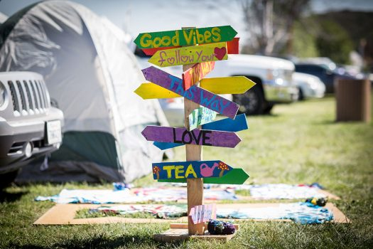 Good Vibes camping sign at Beyond Wonderland SoCal 2015