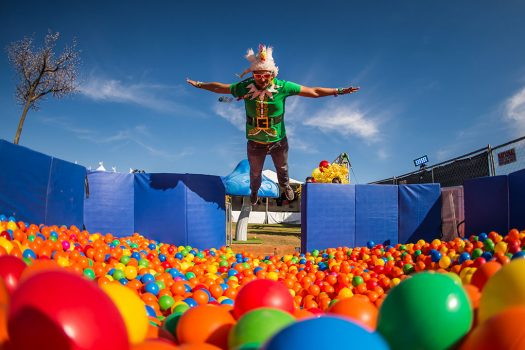 The VIP ball pit at Beyond Wonderland SoCal 2015