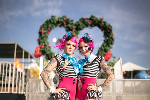 Costumed performers at Beyond Wonderland SoCal 2015