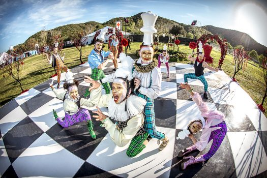 Life-size chess: costumed performers at Beyond Wonderland SoCal 2015