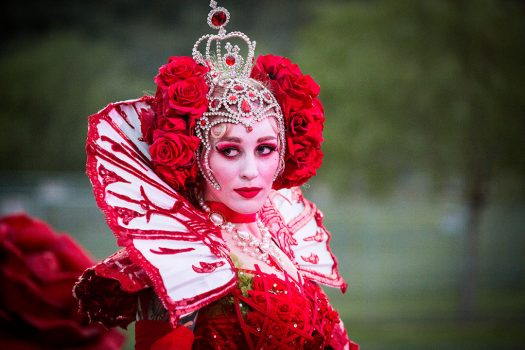 The Red Queen, a costumed performer at Beyond Wonderland SoCal 2015