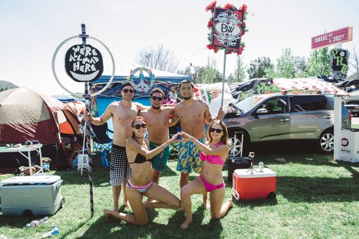 Campers with totems at Beyond Wonderland SoCal 2015