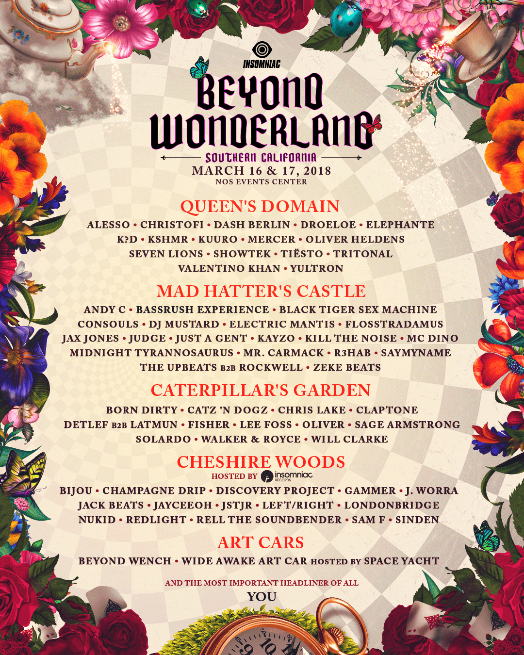 Beyond Wonderland SoCal 2018 Lineup by Stage