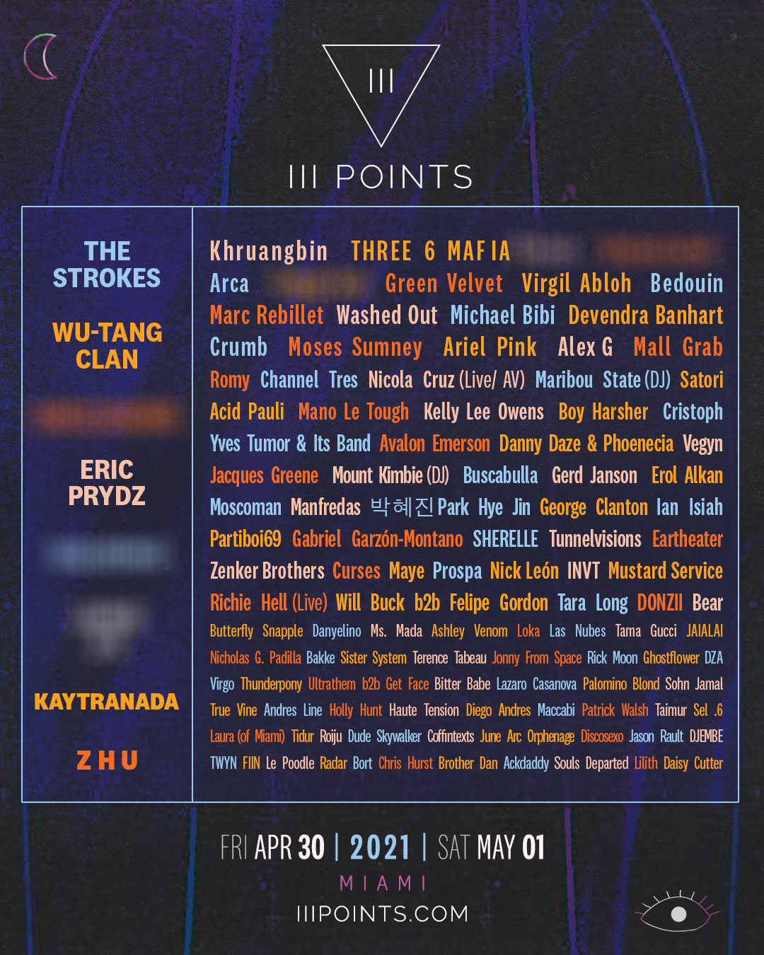 iii points 2021 lineup