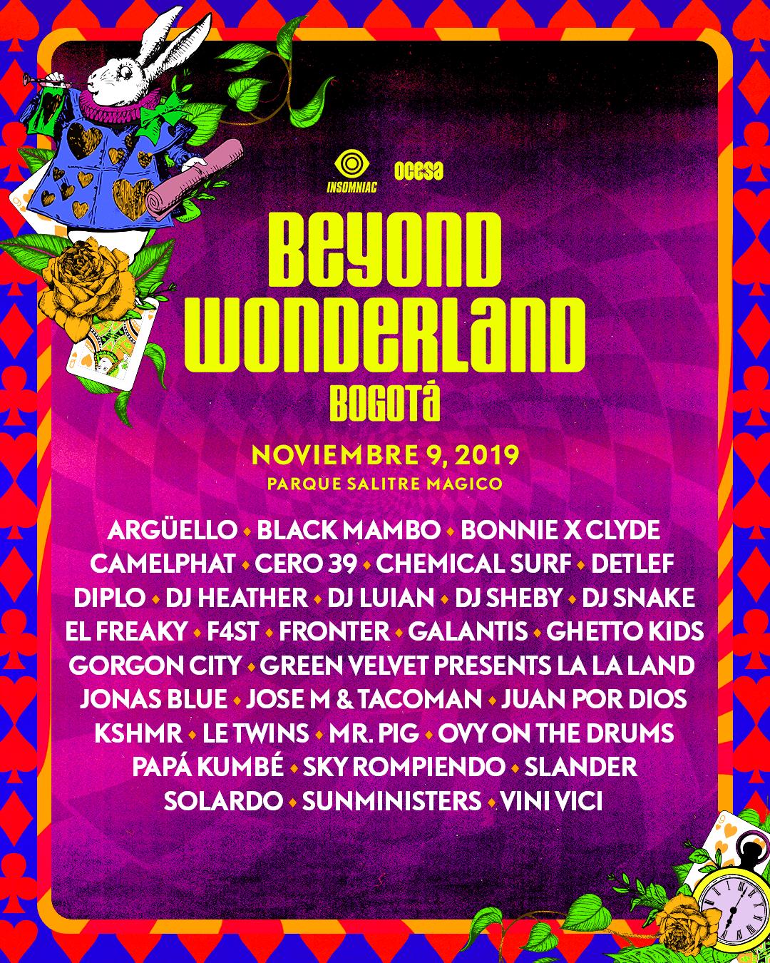 Bogota 2019 lineup