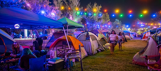 lights and tents