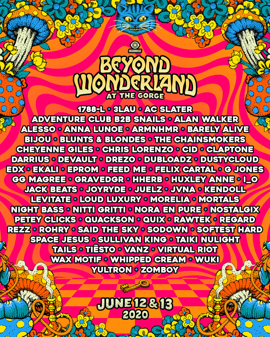 2020 Beyond Wonderland at The Gorge lineup