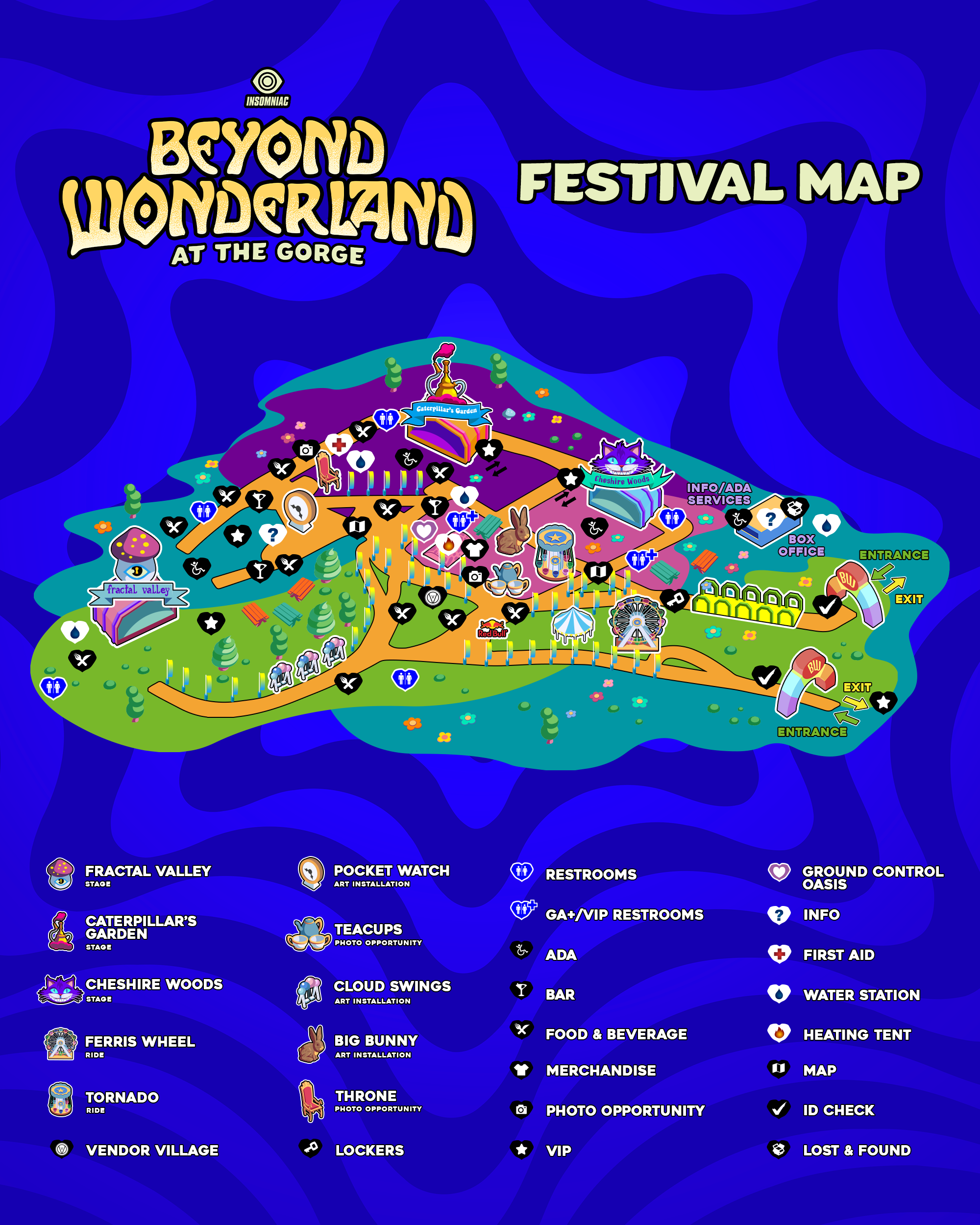 Nocturnal Wonderland 2018 Camping Map