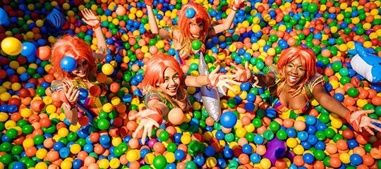 EDC Orlando VIP ball pit