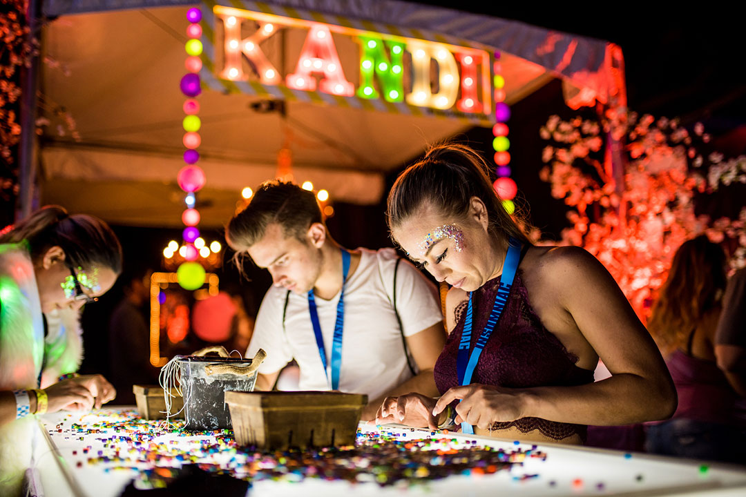 VIP kandi station at EDC Orlando